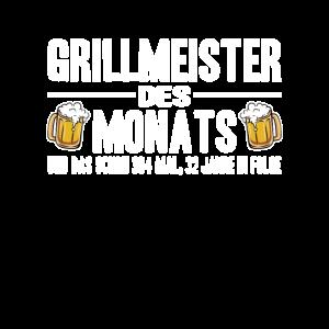 Grillmeister des Monats Grillen lustig Spruch BBQ