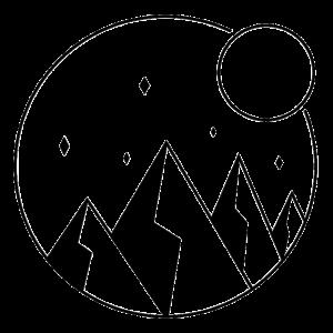 Minimalistischer Berg
