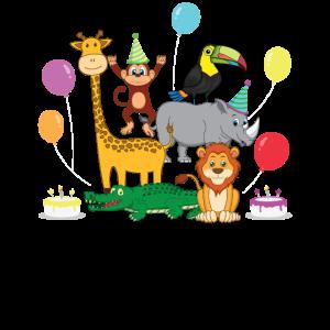 Geburtstag Zoo Tiere Kindergarten Party Geschenk