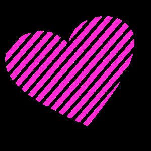 Gestreiftes Herz Liebe Valentinstag Design Motiv