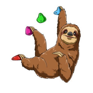 Lustiges Boulder Faultier - Chilled Sloth