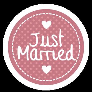 just married, frisch verheiratet