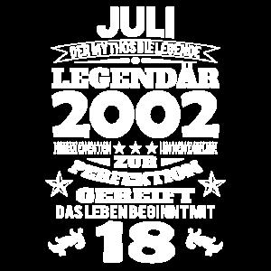 18. Geburtstag Juli 2002 Geschenk Geschenkidee