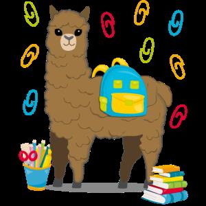 Lama Alpaka Einschulung Schulbeginn Geschenk