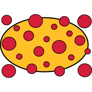 Geometrisches Muster Gelb rot