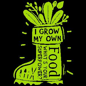 I Grow My Own Food Funny Gardener