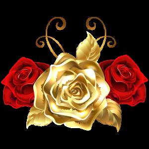 Goldene Rosenkappe