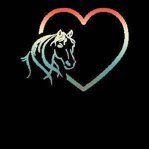 I Love Horse Heart Design