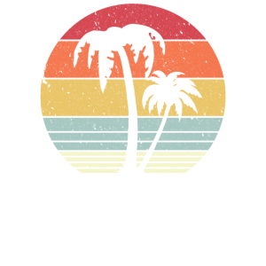 Palme, Retro Tropical, Strandgrafik
