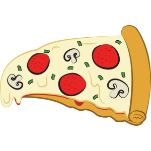 Pizza Stück Illustration