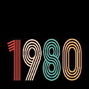 1980 Geschenk zum 40. Geburtstag Vintage Farbe