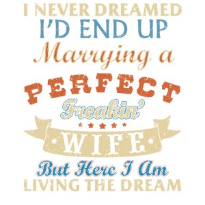 I Never Dreamed I'd Marry A Perfect Wife Funny Gif