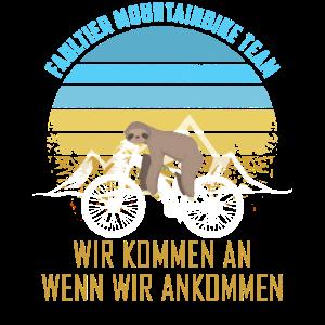 Faultier Mountainbike Team Lustiger Spruch