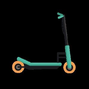Roller Trettroller E-Scooter Rollerfahrer