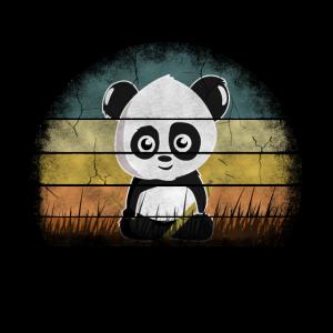 Pandabär Vintage Retro Design