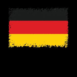 Deutschland Vintage Flagge Fahne Wappen