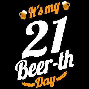 Es ist mein 21 Bier Tag Geburtstag Meilenstein lustig