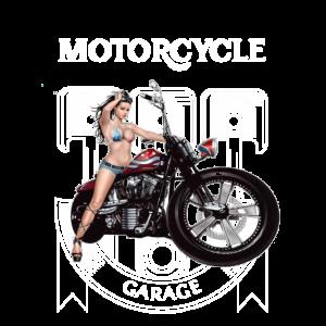 Motorcycle Garage Pin Up