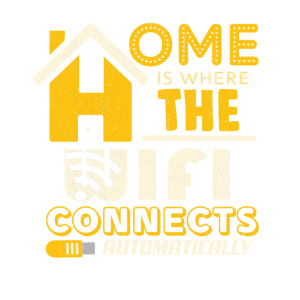 Home where the wifi connects automatically