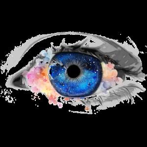 Night Sky Eye with Flowers