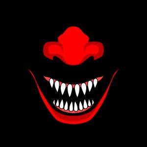 Böser Horror Clown, Smileyface Psycho Killer Clown