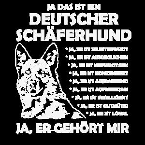 Schäferhund T Shirt Geschenk für Hundebesitzer