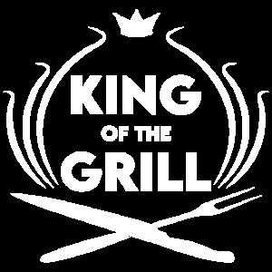 König des BBQ Grillen Spruch