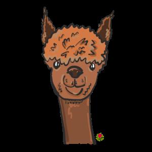 Alpaka Kopf Comic