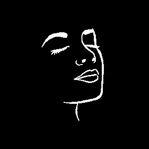 Abstrakte Kunst Gesicht Minimalist Künstler