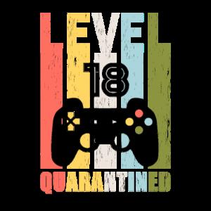 Game Level 18. Geburtstag Geschenk Geboren in 2002