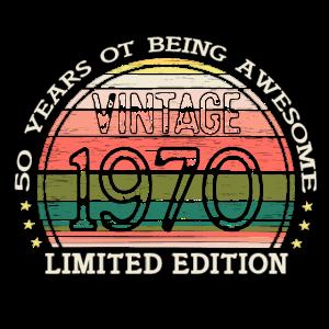 Vintage 50. Geburtstag Geschenk Geboren in 1970