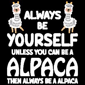 Sei ein Alpaka