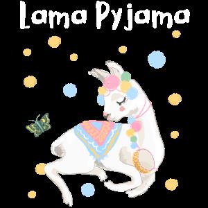 Lama Pyjama Alpaka Geschenk Frauen Männer Kinder