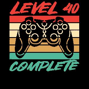 40ter 40. Geburtstag Level 40 Complete