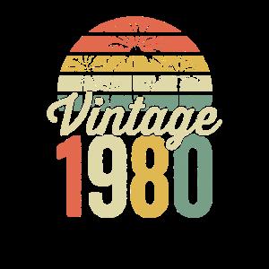 40. Geburtstag Vintage November 1980