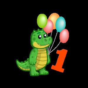 erster Geburtstag Geschenkidee Krokodil