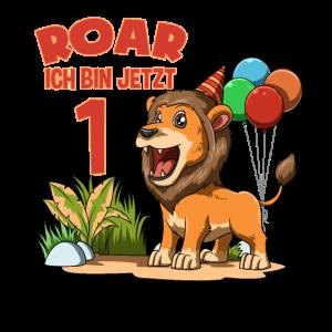 Kinder Süßer Löwe - 1 Jahr Geburtstagsfeier