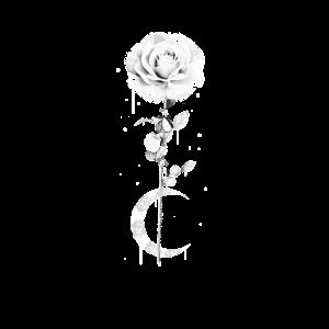 Okkult Okkultismus Rose Mond Gothic T-Shirt