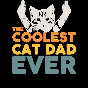 The coolest cat dad ever Katzen Papa Geschenkidee