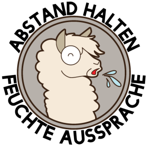 Abstand Halten - Spukendes Lama