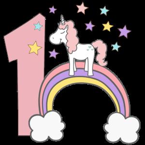 Einhorn, Mein 1. Geburtstag, Babygeburtstag