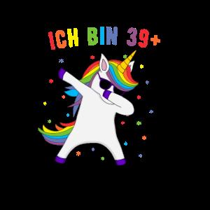 40. Geburtstag Damen Einhorn Geschenkidee
