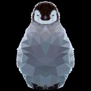polygon pinguin kunst