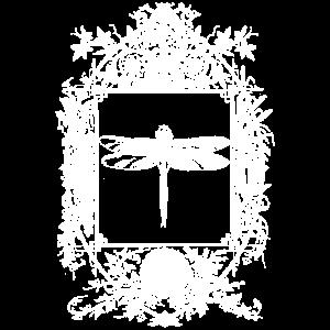 Okkult Goth Gothic Wicca Spiegel mit Libelle