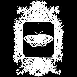 Okkult Goth Gothic Wicca Spiegel mit Schmetterling