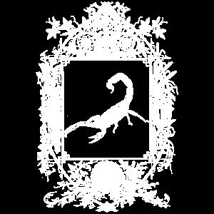Okkult Goth Gothic Wicca Spiegel mit Skorpion