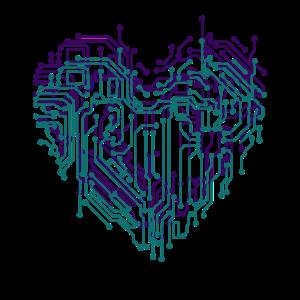 Herz elektronisch digitales Herz