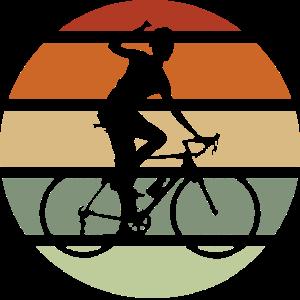 Rennrad Radsport retro Sunset für Rennradfahrer