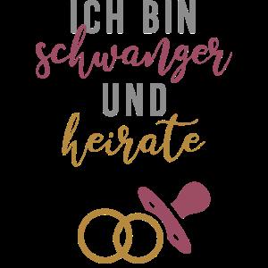 Schwanger und heirate Braut Babybauch JGA Gruppe1