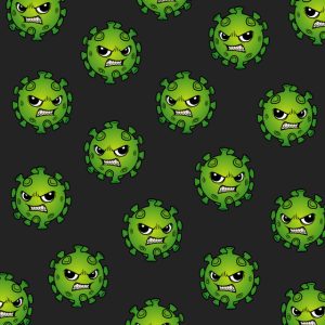 Gesichtsmaske Muster Corona Virus